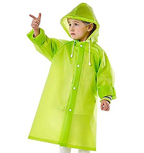 Fashion Stop Boy's|Girl's Hooded PVC Raincoat for Kids (3-4 Years)
