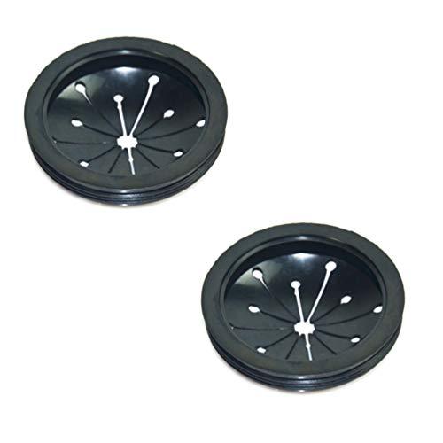 NUOBESTY filtro per lavello 2 pezzi ricambio in gomma per smaltimento rifiuti paraspruzzi deflettore accessori per lo smaltimento di alimenti adatto per la maggior parte dei lavandini - nero