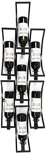 BXU-BG Estante flotante para barra de vino, estante de pared, estante de hierro, estante de techo, estante de metal, estante de vino, soporte para copas y vino, soporte para copas