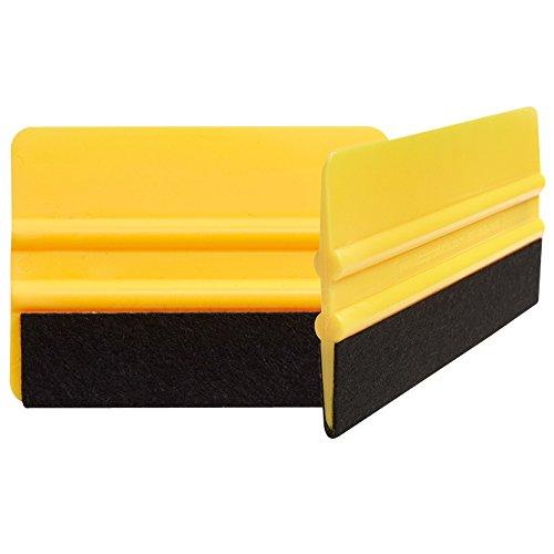 펠트 팁 스퀴지 2 팩. VYINAL 롤 및 탄소 섬유 비닐 용 자동차 스퀴지 FIBRA DE CARBONO3M 자동차 용 VINAL 랩 VVIVID 비닐. XPEL 페인트 보호 필름 및 창 색조를 적용하십시오