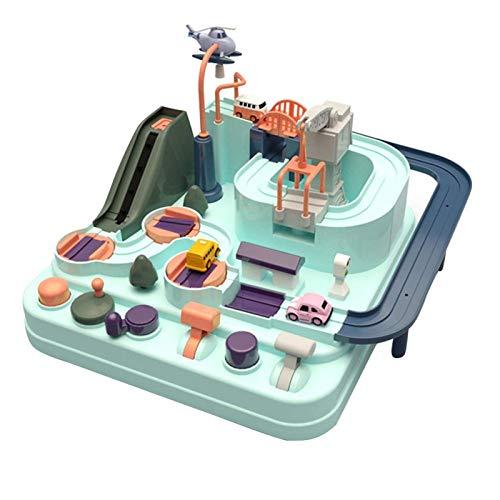 CMXUHUI El juguete favorito del bebé es un buen regalo para el juego de aventura de chi manual de tren tren de juguete para niños educación macaron color juego de mesa rompecabezas coche bebé
