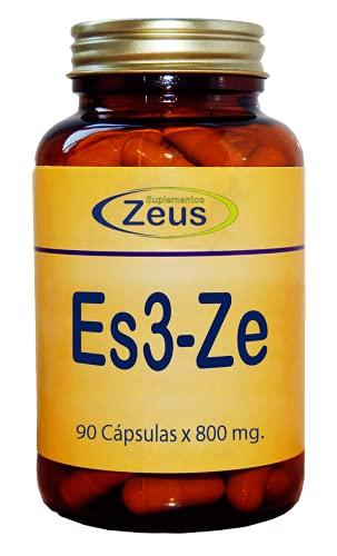 ES3-ZE | Contribuye a rebajar la actividad nerviosa del cerebro, aportando calma | Complemento Alimenticio a base de Aminoácidos, Pasiflora y Vitaminas | 100% Vegano | 90 Cápsulas Vegetales
