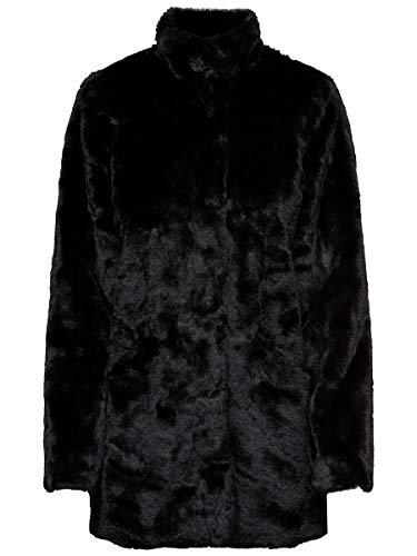 ONLY Damen ONLVIDA Faux FUR Coat OTW Mantel, Schwarz (Black Black), M