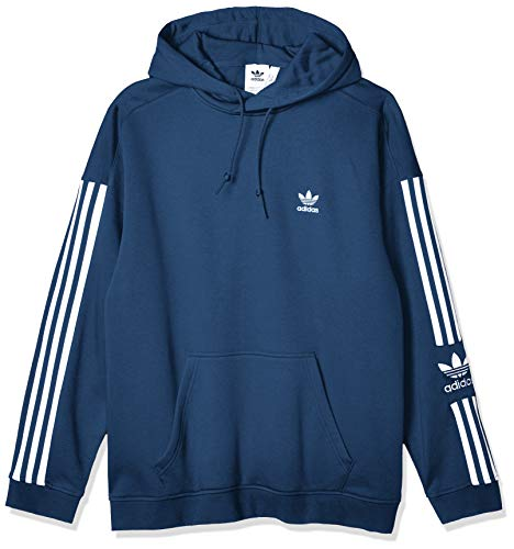 adidas Mens Tech Hooded Sweatshirt, Night Marine, L