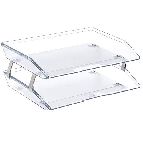 Acrimet Facility Briefablage Doppelt Querformat Design Schreibtisch Organisation (A4 Format) (Kristall)