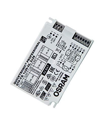 Osram QTP-T/E 1X26-42,2X26/220-240 UNV1 Alimentatore Elettronico Non Dim, 54 W, 220 V, Bianco