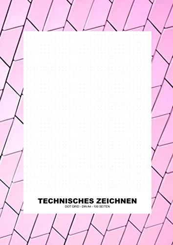 Dot Grid Papier - Technisches Zeichnen: Dotted Heft A4 100 Seiten (Punktraster, punktiertes Zeichenpapier) (Technisches Zeichnen - Paper Books)