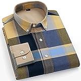 XJJZS Camisas de rayas para hombre de algodón puro Oxford Tela Escocesa de negocios Casual Hombre largo Hombre de  Camisa (Color : P, Size : 40 175CM 65KG)