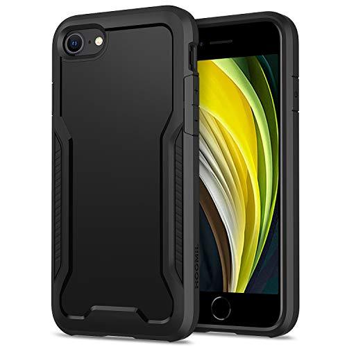 HOOMIL Funda para iPhone SE 2020, Funda para iPhone 8/7, Antigolpes Carcasa para Apple iPhone SE 2020/8/7(4,7 Pulgadas), Armor Protección Silicona TPU Bumper Case - Negro