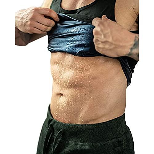 LWKBE Frauen Männer Taille Trainer Weste Slim Sauna Tank Top Reißverschluss Gewichtsverlust Körper Shaper Abnehmen,Men,XXL