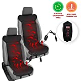 Zento Deals Heated Leather Car Seat Cushion Cover 2 Piece Excellent Quality Adjustable