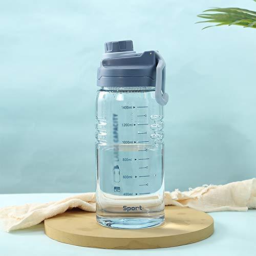 CYR Taza de Agua de plástico, Taza de Espacio portátil para Deportes al Aire Libre con Escala, Botella de Agua de Gran Capacidad para Ejercicios,C,1500ml