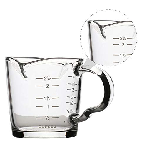 70ml Mini Glass Measuring Cup with handle 2 oz...