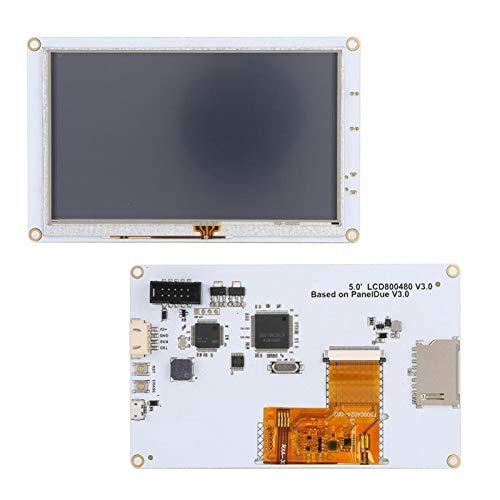 Socobeta Processo di precisione Durevole LCD da 5 Pollici Scheda Controller 800 x 480 Pixel Facile Installazione Touch Screen per Stampante 3D per Elettronica di Stampa 3D