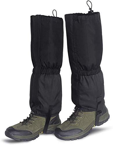 ZWOOS Outdoor Gamaschen, 600D Oxford wasserdichte Beingamaschen, robuste Wandergamaschen für Klettern, Skifahren, Wandern