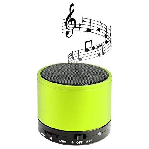 GK Electronics Bluetooth Lautsprecher - limettengrün - Mini - tragbar - Bluetooth Speaker mit Freisprechfunktion - sattes 3-Watt-RMS-Klangerlebnis - unterstützt SD-Karte für grenzenlosen Musikgenuss