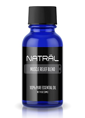 NATRÄL Muscle Relief Blend, 100% Pure and Natural Essential Oil, Large 1 Ounce Bottle