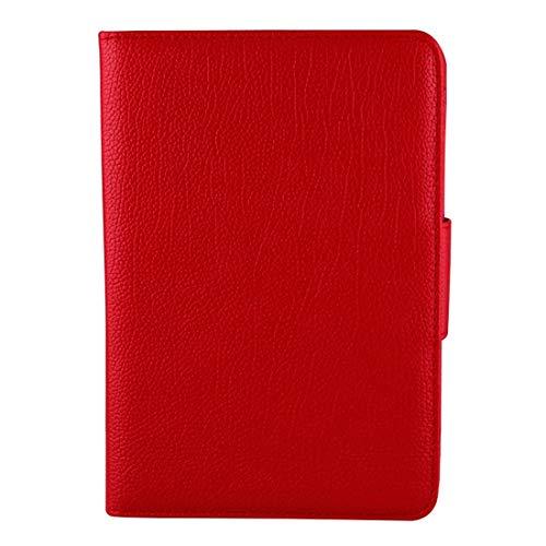 PROTECTIVECOVER+ / la pestaña Galaxy A 8.0 / T350 2 en 1 Funda de Cuero de Textura de Litchi de Litchi de Bluetooth Desmontable con Titular, Fashion Phone Funda para Protector (Color : Rojo)