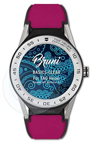 Bruni Schutzfolie kompatibel mit Tag Heuer Connected Modular 41 Folie, glasklare Displayschutzfolie (2X)