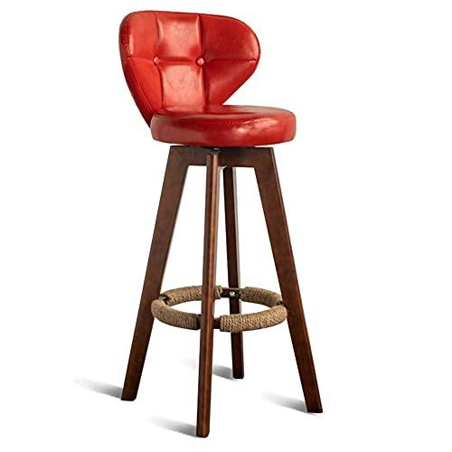 Sgabello da Bar da Tavolo può Essere ruotato di 360 ° Sgabelli Alti in Legno massello Minimalista Moderno Sedia per Il Tempo Libero Sedia da Pranzo Adatta per caffetteria/Bar/bancone/Ristorante