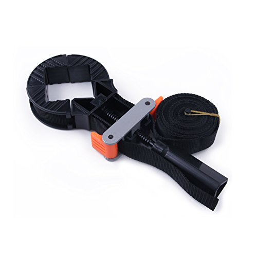 SUYIZN riemmoersleutel met 4 klembekken 4 m nylon riemklem voor lijmen, nagelen, schroeven vrij instelbaar 3 x 10 x 28 cm