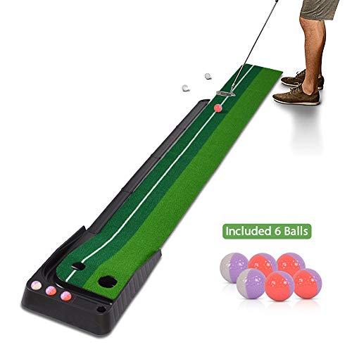 Hivexagon Alfombra de Putting Golf con Auto Retorno para