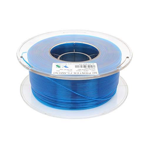 Filamenti per stampanti,Fesjoy Filamenti PETG Filament 3D Printer 1.75 MM Dimensional Precision Alta tenacità Stampa 3D Consumabili 1KG Spool Blue