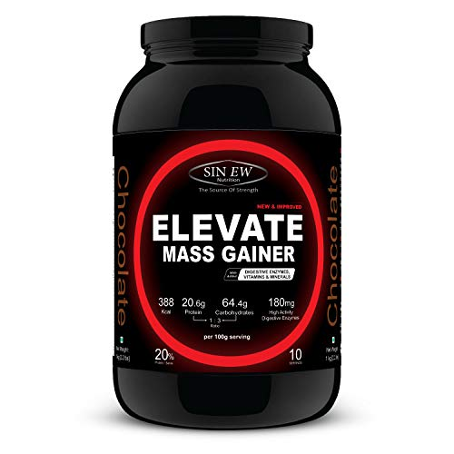 Sinew Nutrition Elevate Mass Gainer with Digestive...