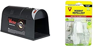 Victor Electronic Rat Trap - Reusable, Easy to Bait Rat Trap M808 Plug-in Rodent Mouse and Rat Repellent, White