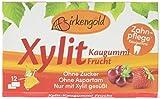 Birkengold Xylit Kaugummi Frucht, 8er Pack | Zahnpflege-Kaugummi | zuckerfrei | 70 % Xylit | vegan | ohne Titandioxid -