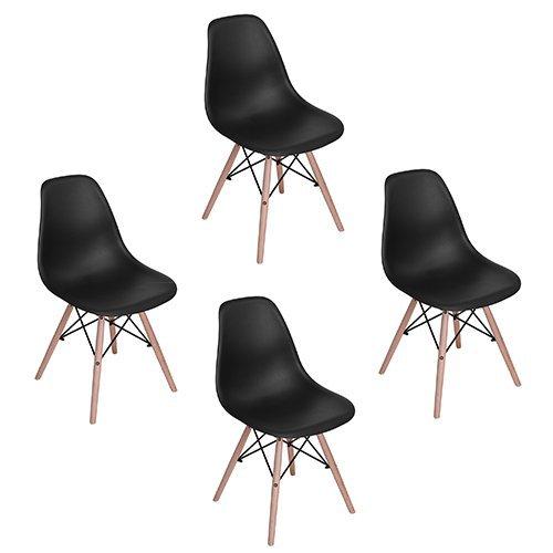Eames DSW Esszimmerstuhl, Eggree(TM) Stühle mit Eiffelturm, 4 Stück