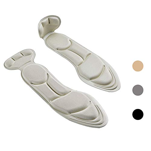 (3 Pairs) Shoe Insoles,Heel Insoles,Sponge Shoes Pads with Heel Grips Inserts,Heel Cushions,High Heel Inserts Great for Loose Shoes, Metatarsal or Arch Pain,Feet Sore Relief,Women 4.5-9.5.