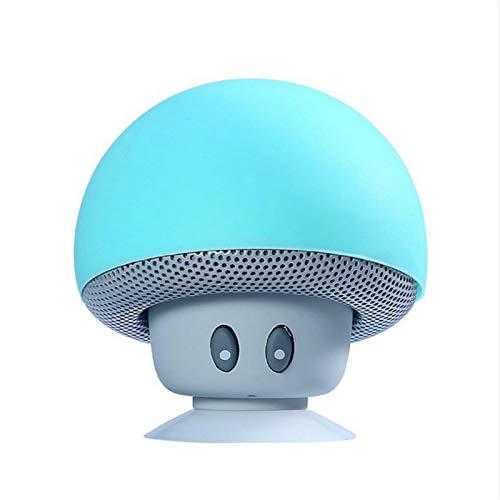 Kentop Enceinte Bluetooth Ventouse Mini Haut Parleur Bluetooth 3.0 Android sans Fil Speaker Portable Forme de Champignon(Bleu Clair)