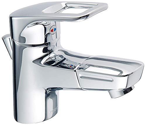 TOTO 洗面所水栓 台付1穴・エコシングル ワンプッシュ式 TLHG31DEFR (吐水口回転)