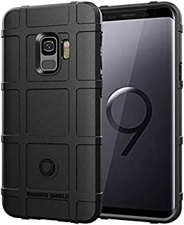 Apple Silicone Case Compatible with Samsung Galaxy S9 Mobile Shell for Samsung S9 Cover Silicone Anti-Fall Soft Shell (Col...