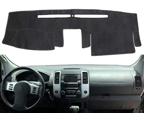 Dashboard Cover Dash Cover Mat Pad Carpet Custom Fit for Nissan Frontier 2007-2019 (Black) Y66
