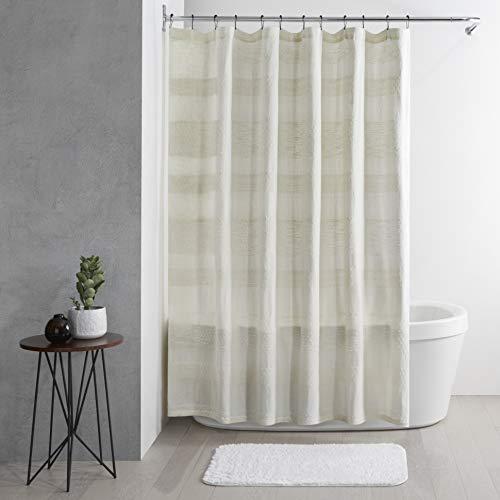 "UGG Russel Textured Slub Stripe Shower CurtainNatural, 72"" x 72"""