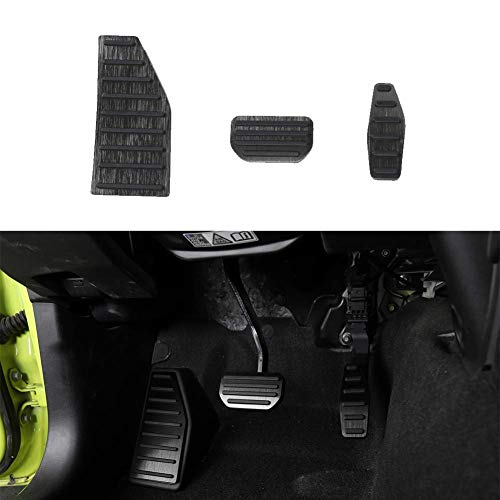 Fscar Black Left Foot Rest Pedal And Accelerator Brake Pedal Cover Trim Foot Pedal Pads Decoration Car Interior Accessories 1Set For Jimny 2010-2021(AT) -  21-415-HT-10199