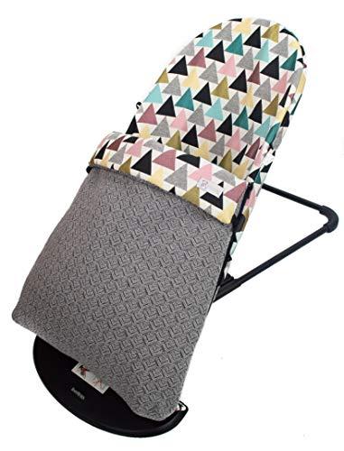 Funda y SACO para Hamaca BabyBjörn Balance Soft (Sustituye tapicería original). Varios diseños disponibles (Geo)