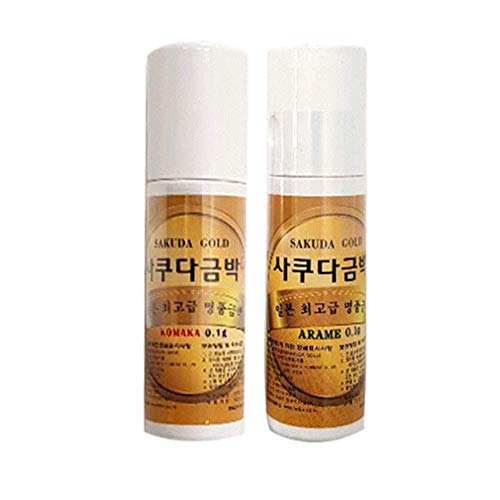 Japan Edible Gold Leaf Foil Flakes Powder Glitter Food Decoration Cooking Beauty Portable Size Tube (Arame (Big), 0.1g) (0.1g Tube)