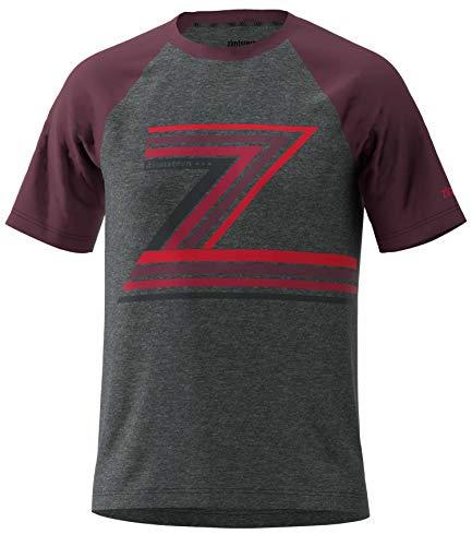 Zimtstern Herren The-Z Tee T-Shirt, Gun Metal Melange/Windsor Wine, XXL