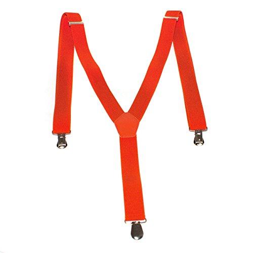1buy3 Hosenträger Orange  Unisex   Y-Form   Männer & Frauen   3 Clips   ab 6 Jahren verstellbar   über 28 Modelle