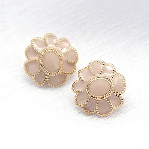 DINGM 6 uds Botones Grandes de Metal Dorado con Flores para Ropa, Abrigo, Vestido, Botones Decorativos Vintage, Regalo de Boda, Accesorios de Costura