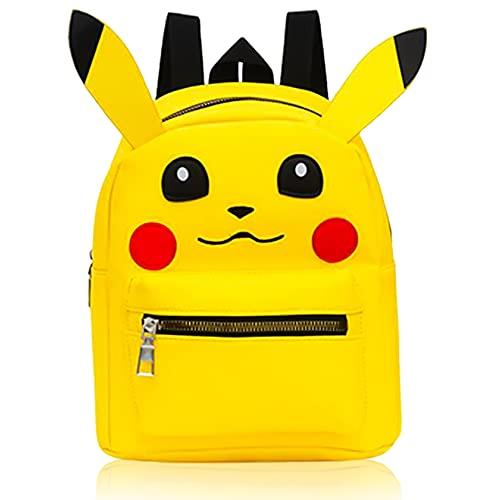 Rucksack Kinder, Pikachu Cartoon Tier-Rucksäcke,Pokemon Mini Schulrucksack Tiere Kindergartentasche für Jungen Mädchen Kleinkind