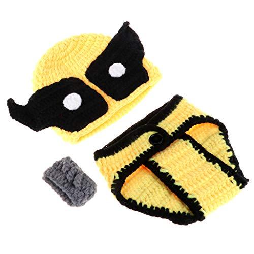 A0127 2 st¨¹cke neugeborenes Baby Boy Knit h?keln Kleidung kost¨¹m Fotografie Prop Outfits