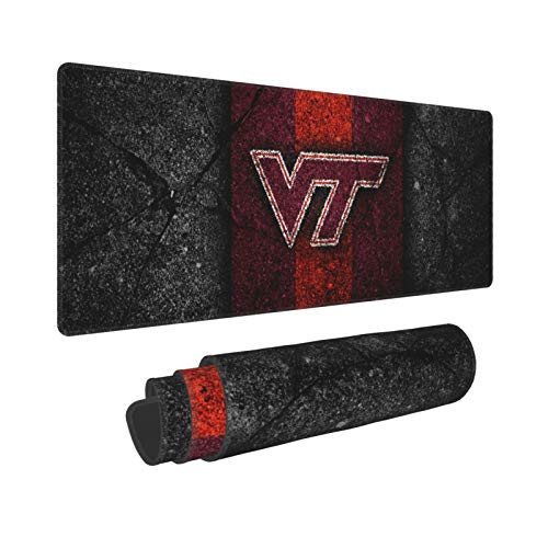 Virginia Tech Gaming Mouse Pad Large XXL Waterproof Desk Mousepad Non-Slip Desk Pad Rubber Base Stitched Edges Extended Mouse Matfor Home Office Gaming