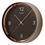 Iron Marque Silent Dcor Wall Clock Battery Operated Non Ticking Modern Elegant Quiet Clock for Home Office (Black, 13 inch)