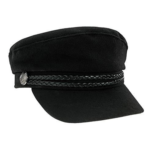 MFAZ Morefaz Ltd Kapitän Sailor Hut Cap Yacht Party Hüte Marine Admiral Sailor Kostüm Zubehör Baseballmütze (Black Size 62cm)