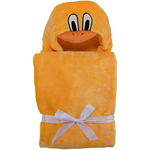 Toalla Bebé con Capucha - Mullido Albornoz para Niños (Poncho) de Microfibra (Pato)
