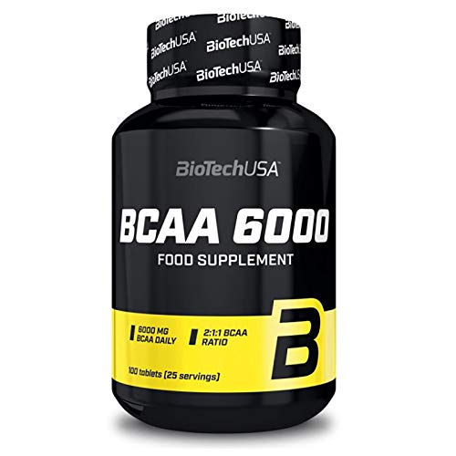 BCAA + B6 100 Tablets | Branched Chain Amino Acids | Anabolic & Anticatabolic | Bodybuilding Pills | Lean Muscle Mass Growth | Sport Supplement